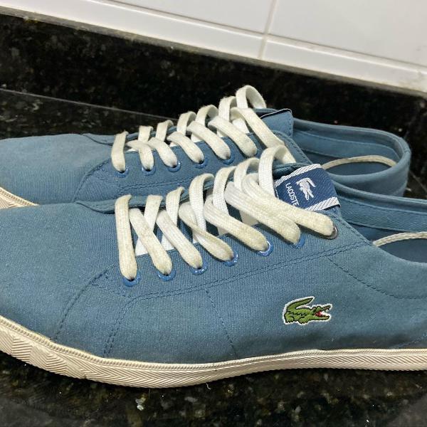 dois pares de sapatenis lacoste tamanho 42 azul e verde