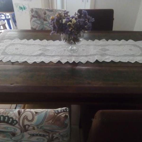 mesa rustica com 4 cadeiras