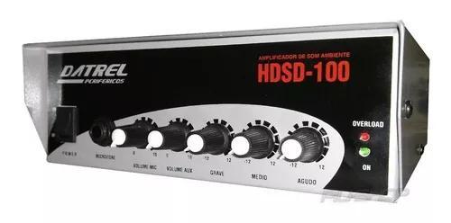 Amplificador Para Caixa De Som Ambiente 2 Canais Hds 100 Rms
