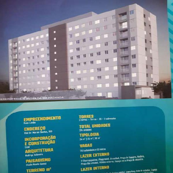 Apartamento para venda possui 39 m² com 2 quartos em Vila