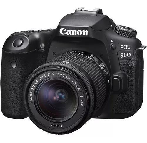Cämera Canon Eos 90d Dslr Com Lente 18-55mm Stm 12x S/juros