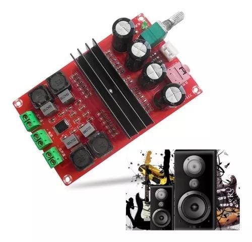 Kit Placa Montada Amplificador 2.0 100+100 200w Rms Classe D