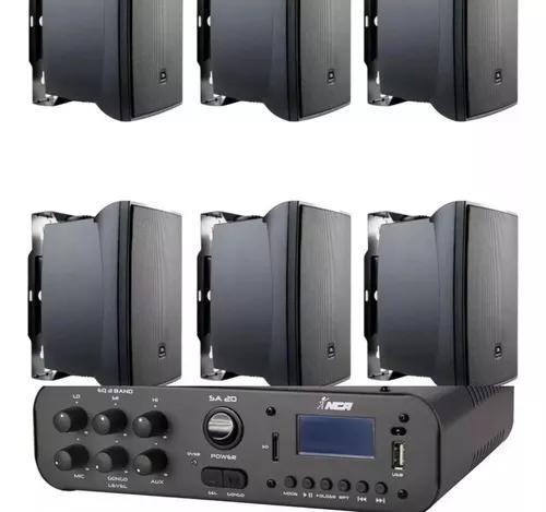 Kit Som Ambiente Ampl Bluetooth Sa20 100w + 6cxs Jbl C621p