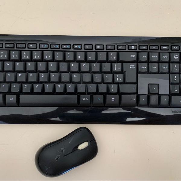 teclado e mouse sem fio microsoft