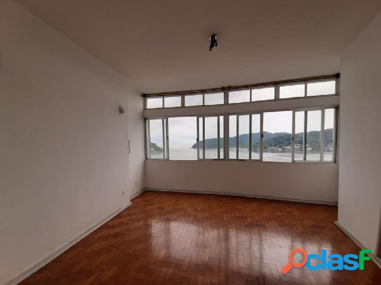 Apartamento Sala Living com vista total mar com garagem no