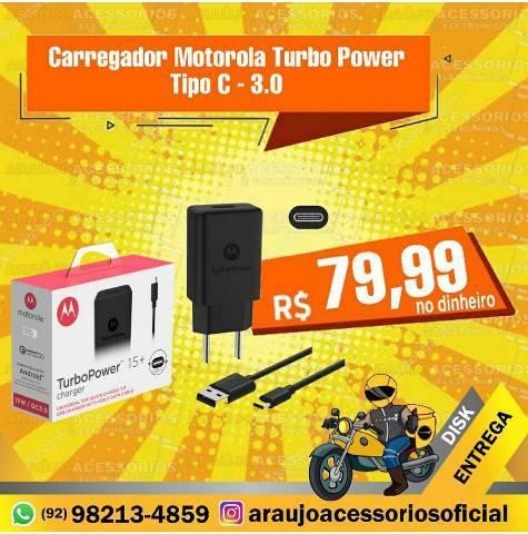 Carregador Motorola Turbo Power Tipo C (Q)