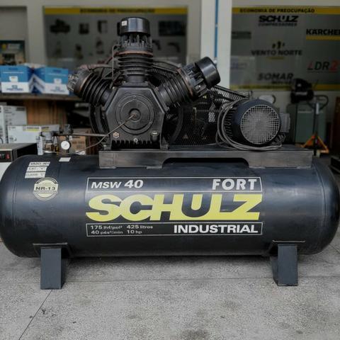 Compressor Industrial 40 Fort, Seminovo, Todo revisado
