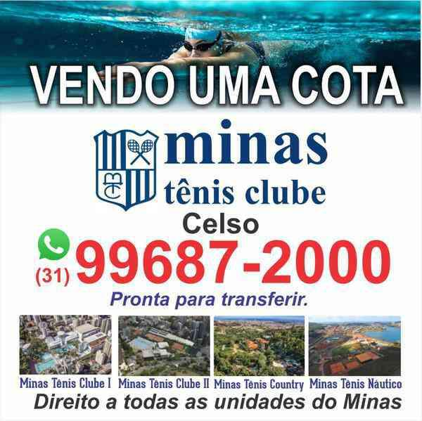 Vendo Cota do Minas Tênis Clube!!promoção de Um Mês de
