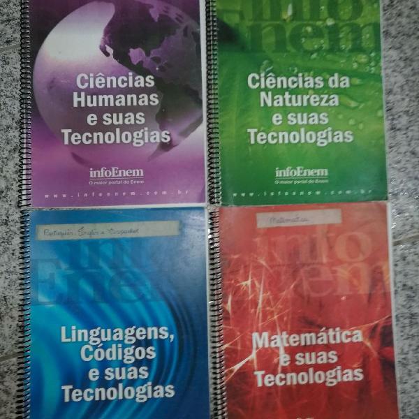 kit de livros para Enem e pré vestibular