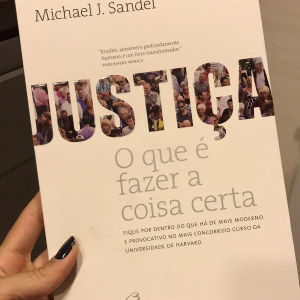 livro justiça: o que é fazer a coisa certa