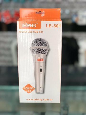 Microfone Lelong com fio