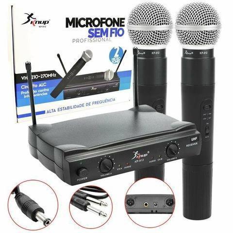 Microfone Profissional Sem Fio Uhf Wireless igrejas e