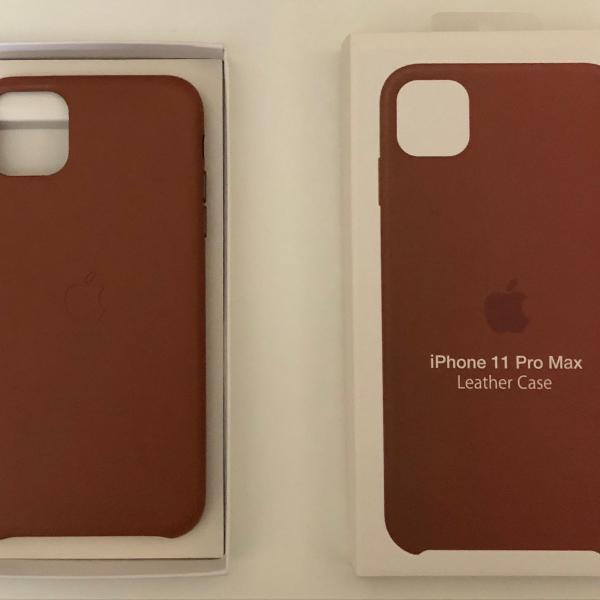 capa de couro para apple iphone 11 pro max