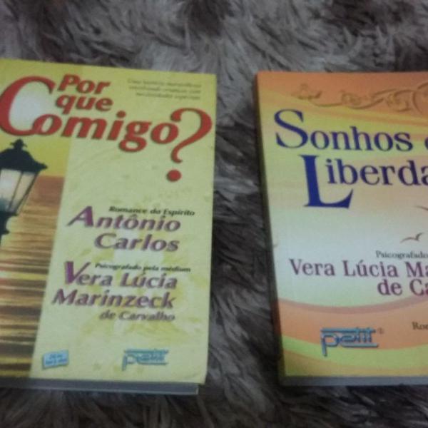 lote livros espíritas vera lucia marinzeck camargo
