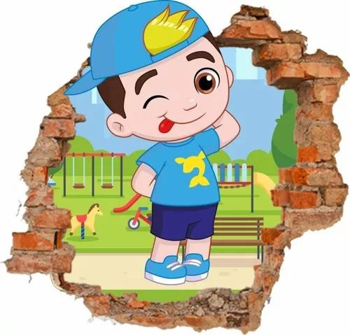 Adesivo Parede Infantil Lucas Neto Buraco 3d 65x65cm
