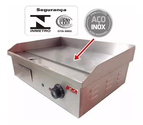Chapa Elétrica 55x43 Sanduicheira Lanche Inox Estilo