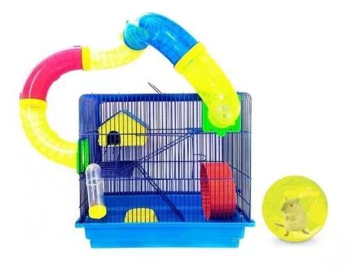 Gaiola Hamster Labirinto 3 Andares Com Globo Acrílico