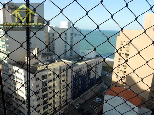 Lindo apartamento na 1ª quadra do mar da Praia da costa,