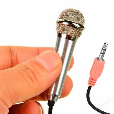 Mini Microfone Para Celular P2 Macho Kp-907 (Leia a