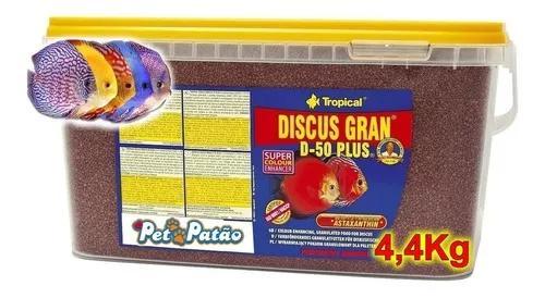 Tropical Discus Gran D-50 Plus 4,4kg Balde Com Astaxantina