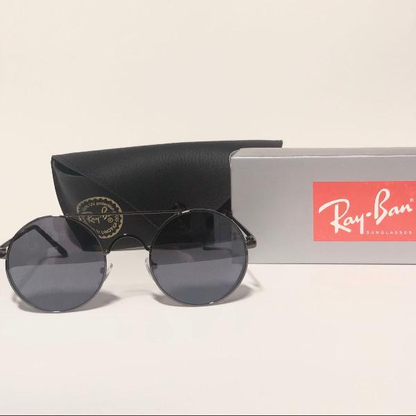 lindo óculos de sol unissex ray-ban space preto brilho