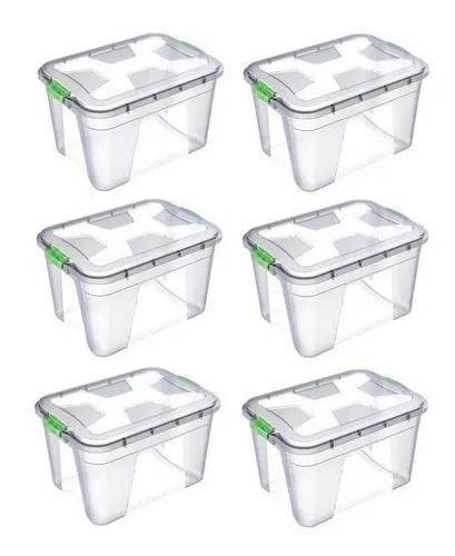 Caixa Organizadora Multiuso Plástica 20 Litros Kit 6 Peças
