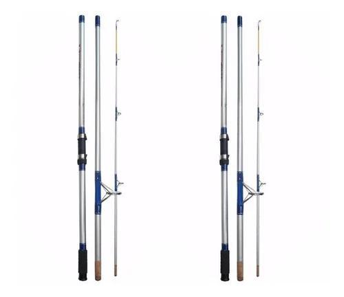 Kit Pesca 02 Varas Molinete Super Cast Sc-1103h - 3,35m