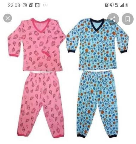 Pijama Infantil Masculino e Feminino