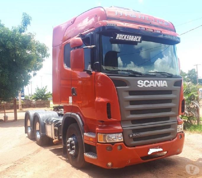 Scania R-500 6x4 com Rodotrem