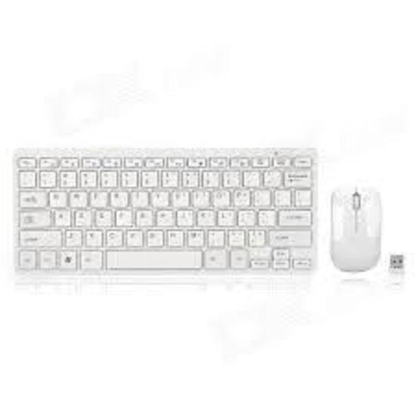 Teclado + mouse usb sem fio 2.4 ghz mini slim pc, tablet