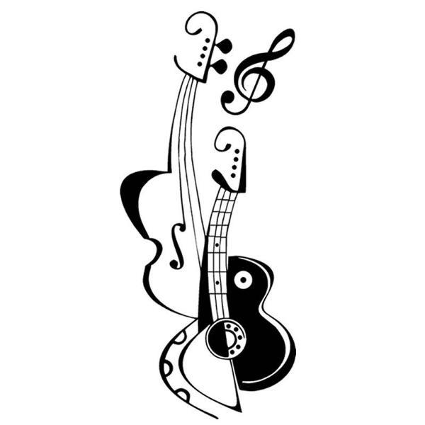 adesivo parede guitarra baixo clave música