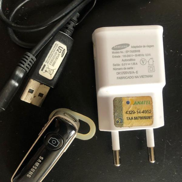 fone de ouvido wireless samsung original completo