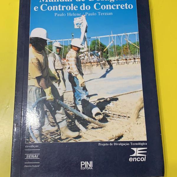 livro: manual de dosagem e controle do concreto