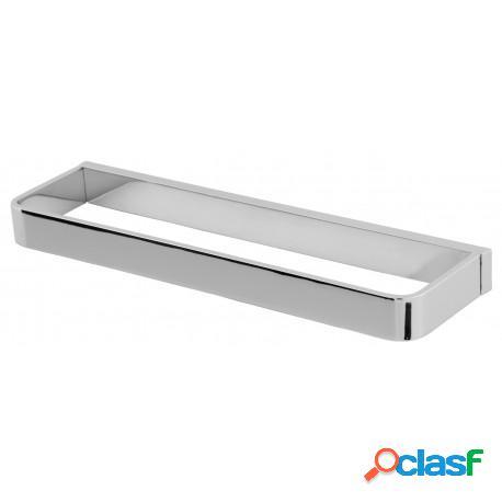 Porta Toalha Rosto Quadrat em Metal Cromado