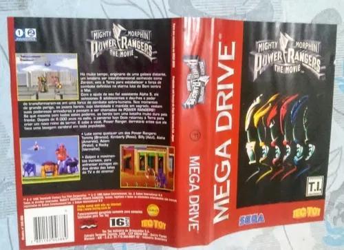 Encarte Mighty Morphin Power Rangers The Movie Mega Drive