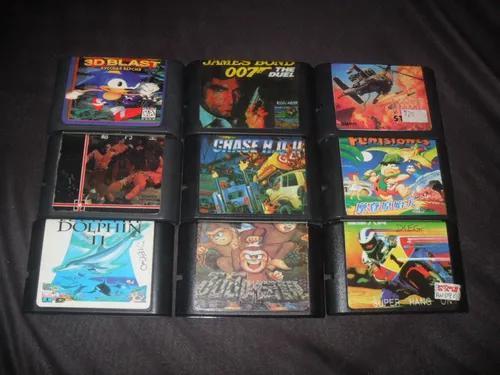 Lote De 16 Cartuchos Mega Drive (paralelos) Promoção!