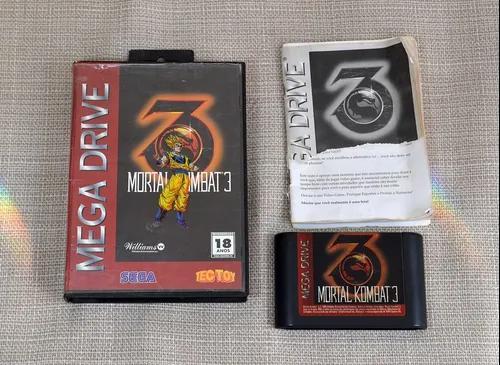 Mortal Kombat 3 Tec Toy Mega Drive Caixa Serial Igual Manual