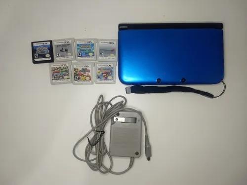 Nintendo 3ds Xl Azul + Jogos