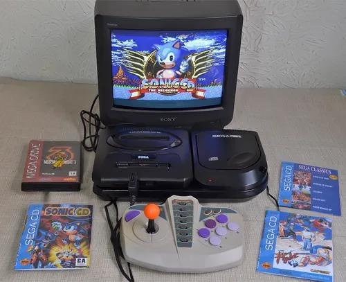 Sega Cd Mega Drive 3 Contr. Arcade Mortal Kombat 3 Sonic Cd