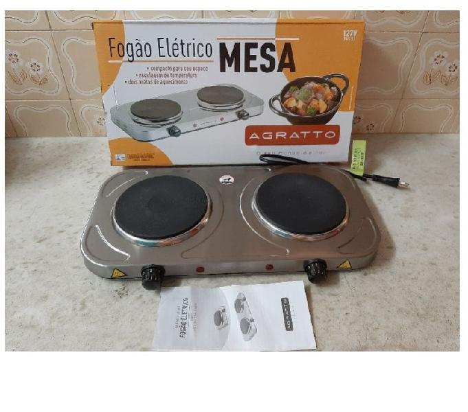 Fogão Elétrico de Mesa 2 Bocas FM-01 127v 2000w Inox