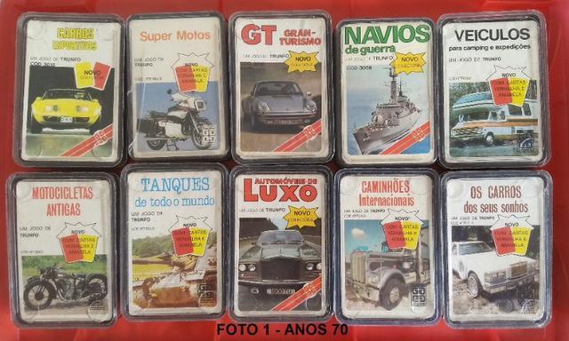 Lote c/ 63 Super Trunfos Grow anos 70, 80, 90 e 2000 novos