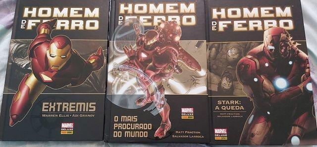 Marvel Deluxe Homem de Ferro - 3 Edições