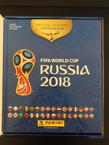 lbum de Figurinhas Copa da Rússia 2018