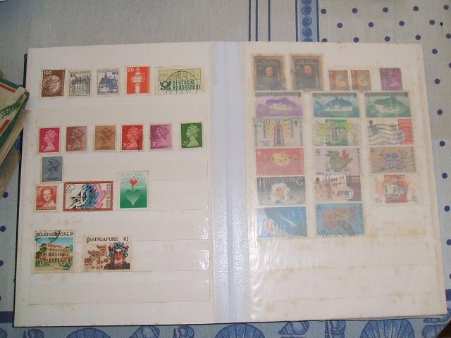 Coleção de selos mundo