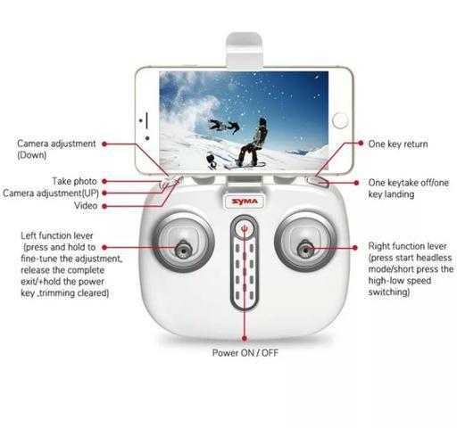 Controle remoto Drone Syma série X 8 pro GPS