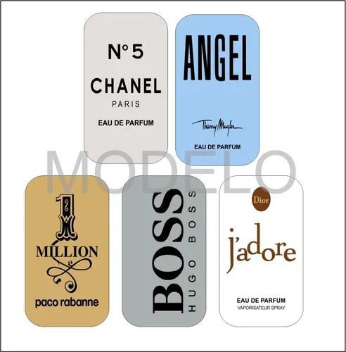 3 Cartelas De Etiquetas Com Recorte Impressas