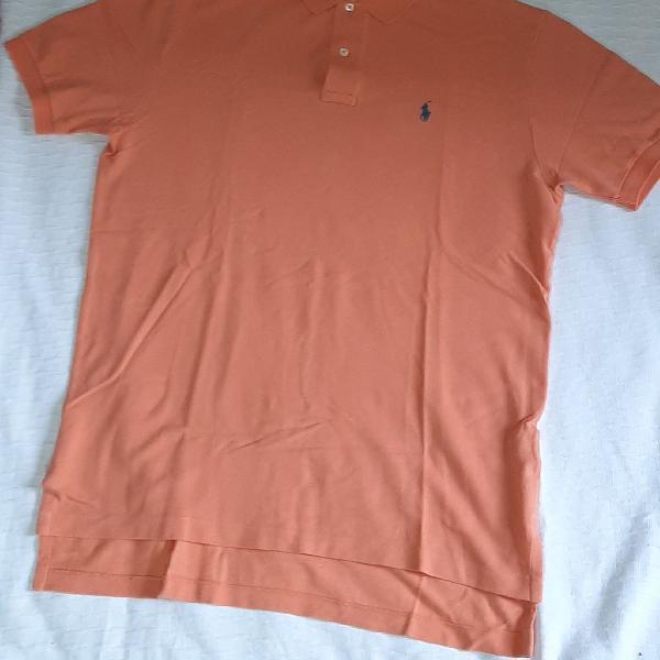 Polo by Ralph Lauren laranja clara, com logo azul