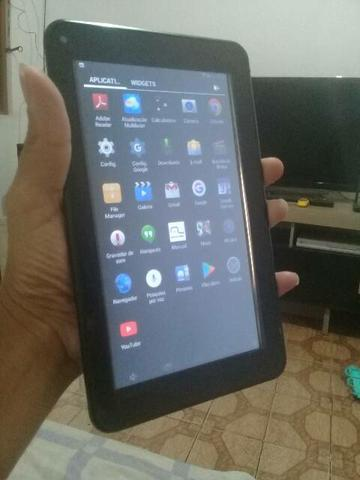 Tablet Multilaser 8GB tela 7 funcionando tudo