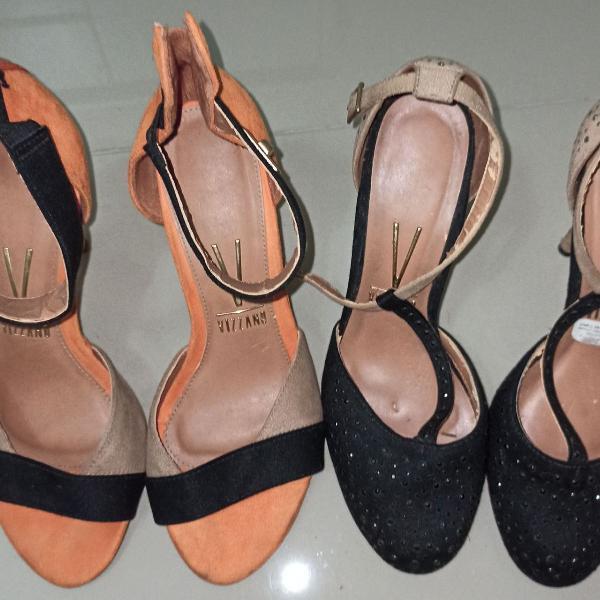 lotinho com 3 sapatos vizzano em ótimo estado, usado pocas
