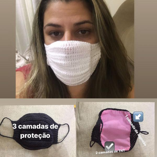 máscara de tecido reutilizável (kit com 3)